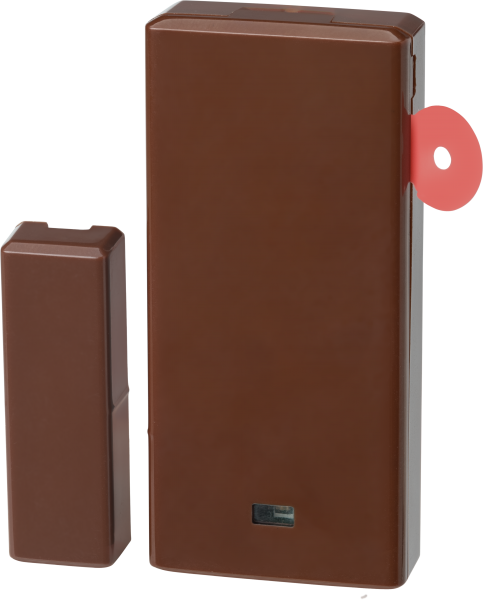 PowerG Wireless Door Window Magnetic Contact_Brown_With pull tab